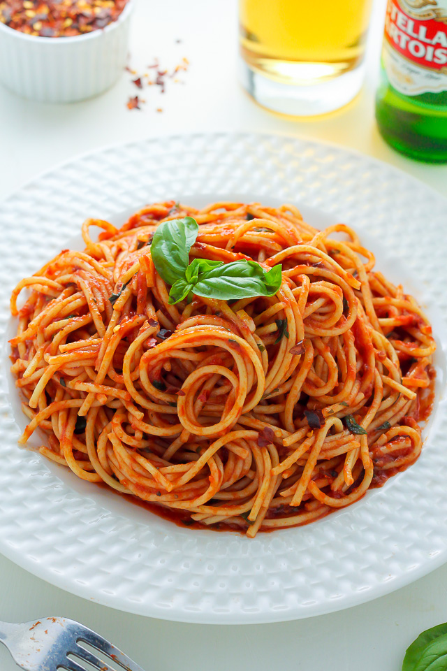 Simple Spaghetti Fra Diavolo - Baker by Nature