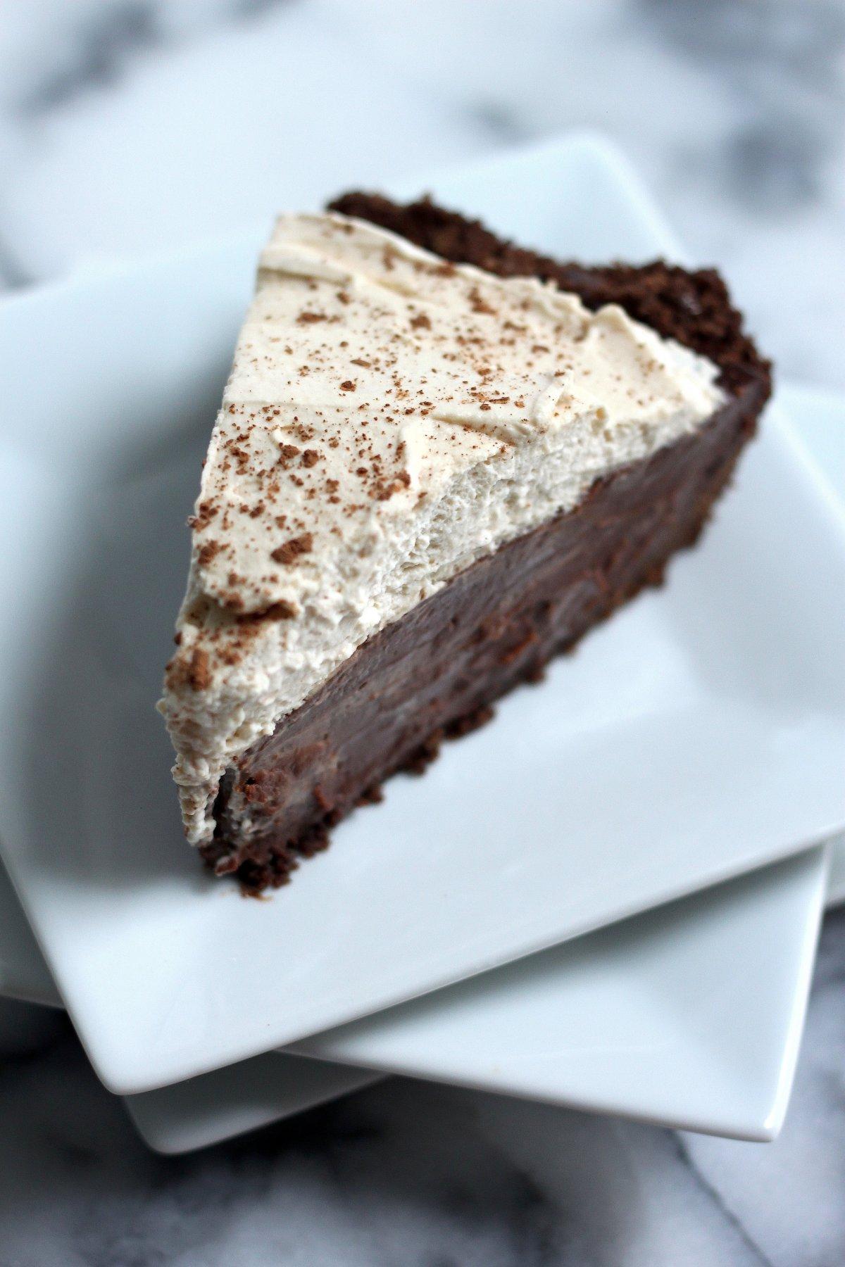 Malted Chocolate Pudding Pie with Chocolate Animal Cracker Crust ...