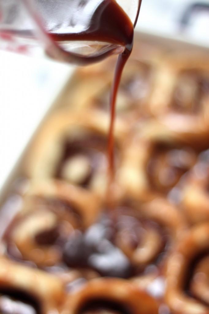 Nutella Stuffed Banana Sticky Buns - Baker by Nature