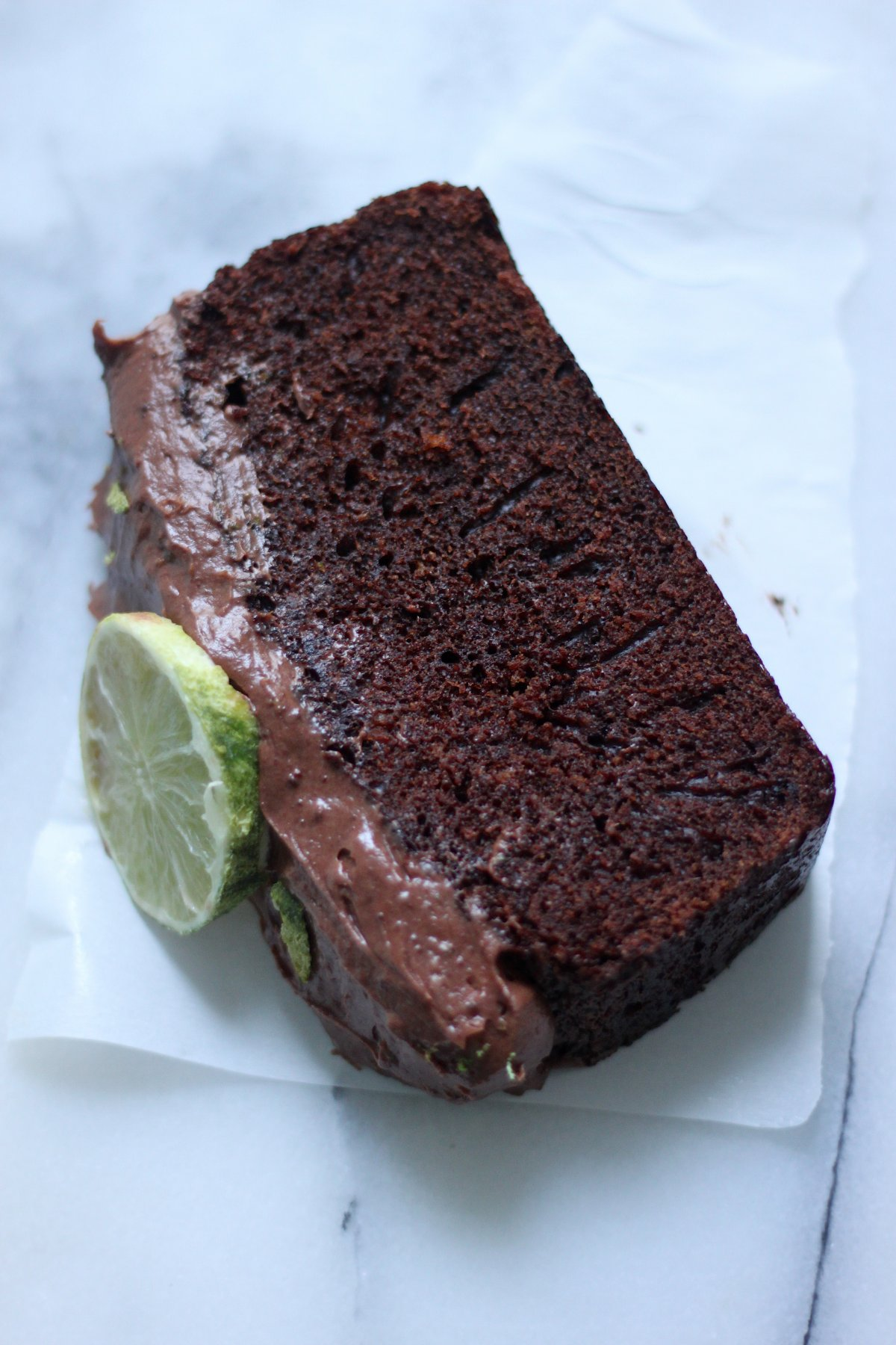 Dark 'N' Stormy Chocolate Pound Cake - Baker by Nature