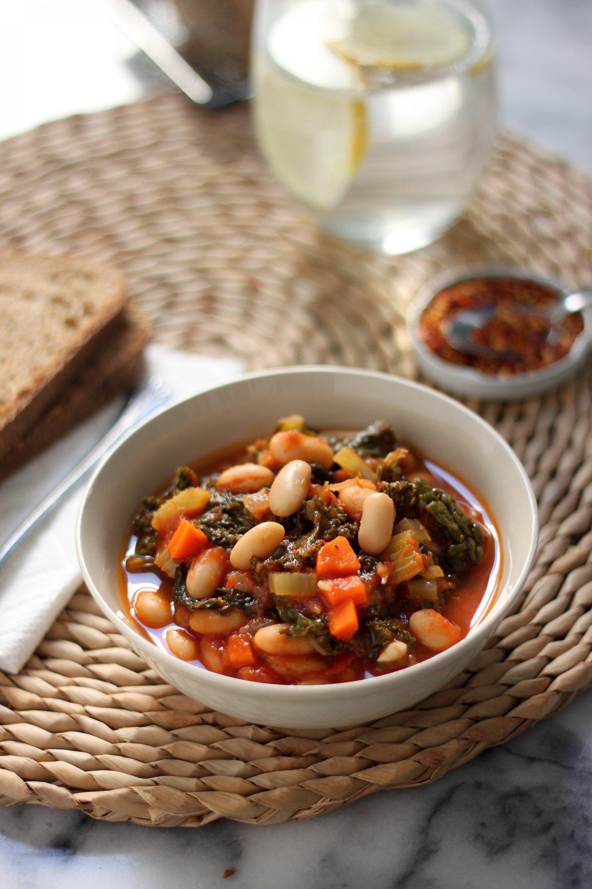 (Vegan) Chunky Italian Vegetable Stew - Baker by Nature