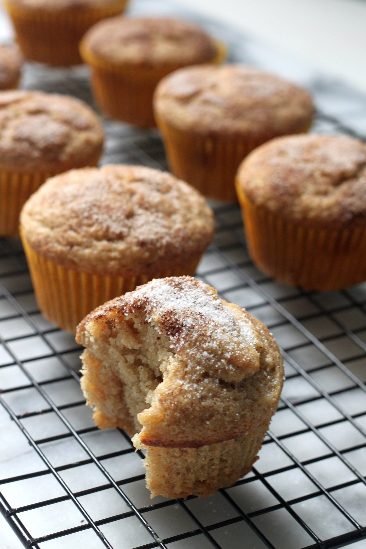 Vegan) Cinnamon Sugar Doughnut Muffins - Baker by Nature