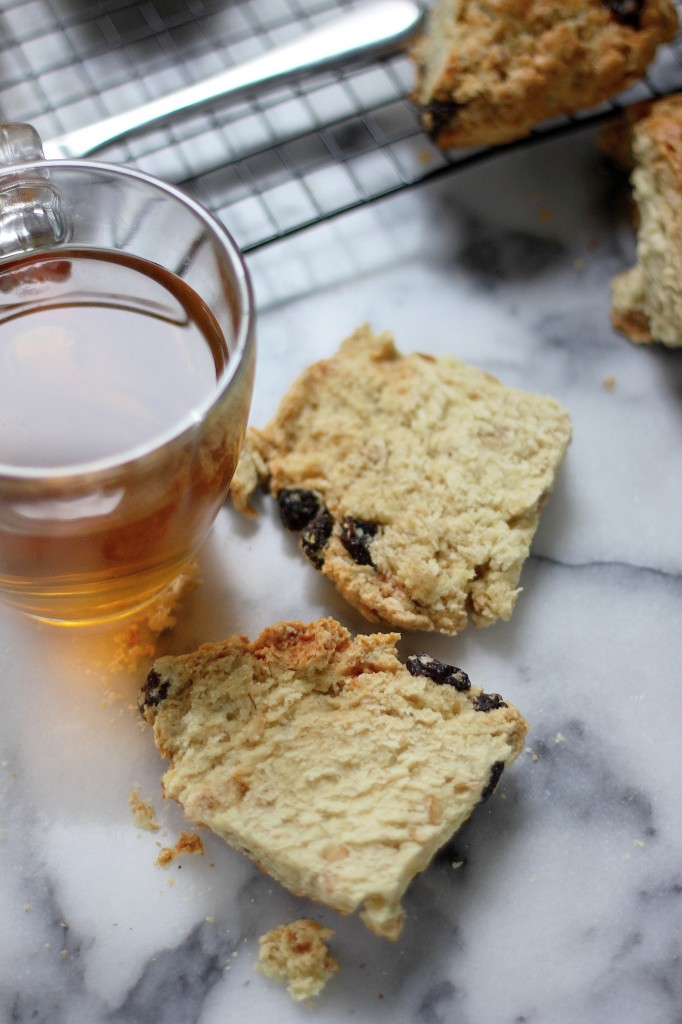 Irish Soda Bread Scones with Honey Cinnamon Butter - Baker by Nature