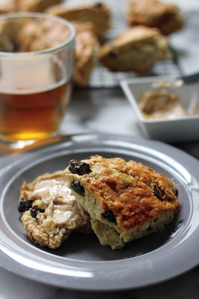 Irish Soda Bread Scones with Honey Cinnamon Butter - Baker by Nature