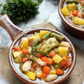 Spring Chicken Vegetable Soup
