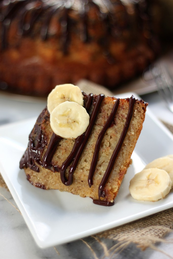 Cake With Chocolate Milk : Banana Bread Bundt Cake with Milk Chocolate Drizzle ...