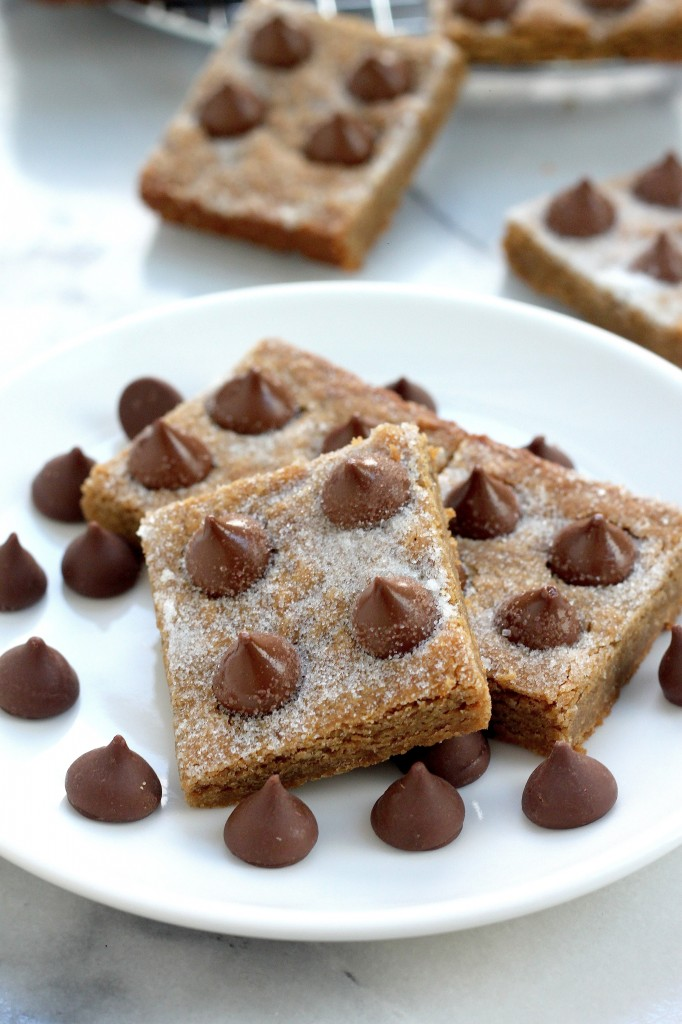 Peanut Butter Blossom Blondies