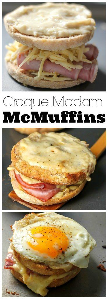 Croque Madam McMuffins