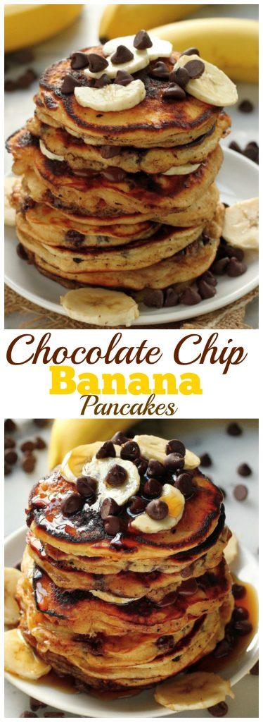 Chocolate Chip Bananan Pancakes