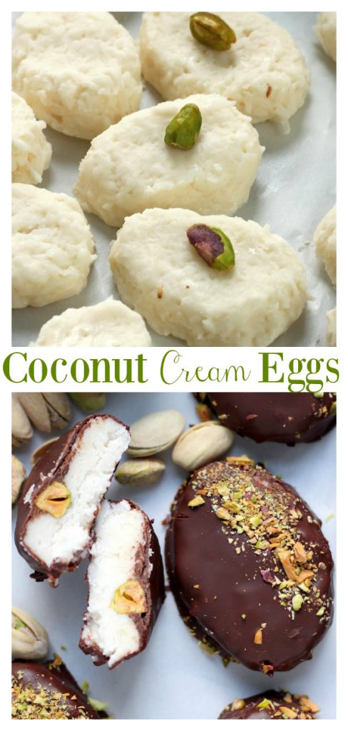 An easy recipe for Chocolate Covered Coconut Cream Eggs!!! Made with cream cheese and butter, this homemade Easter candy recipe basically melt in your mouth! And you can freeze coconut cream eggs for up to two months!