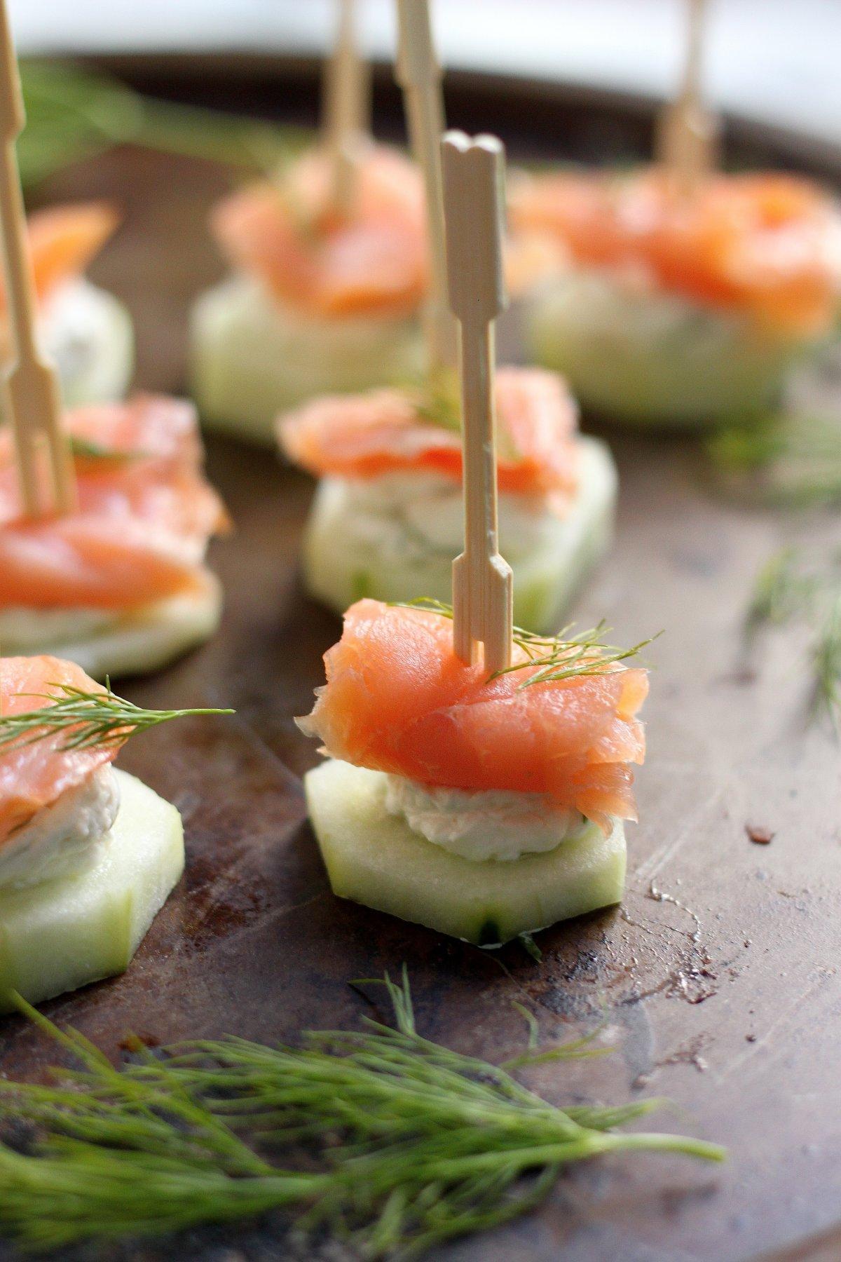 Party food recipes smoked salmon