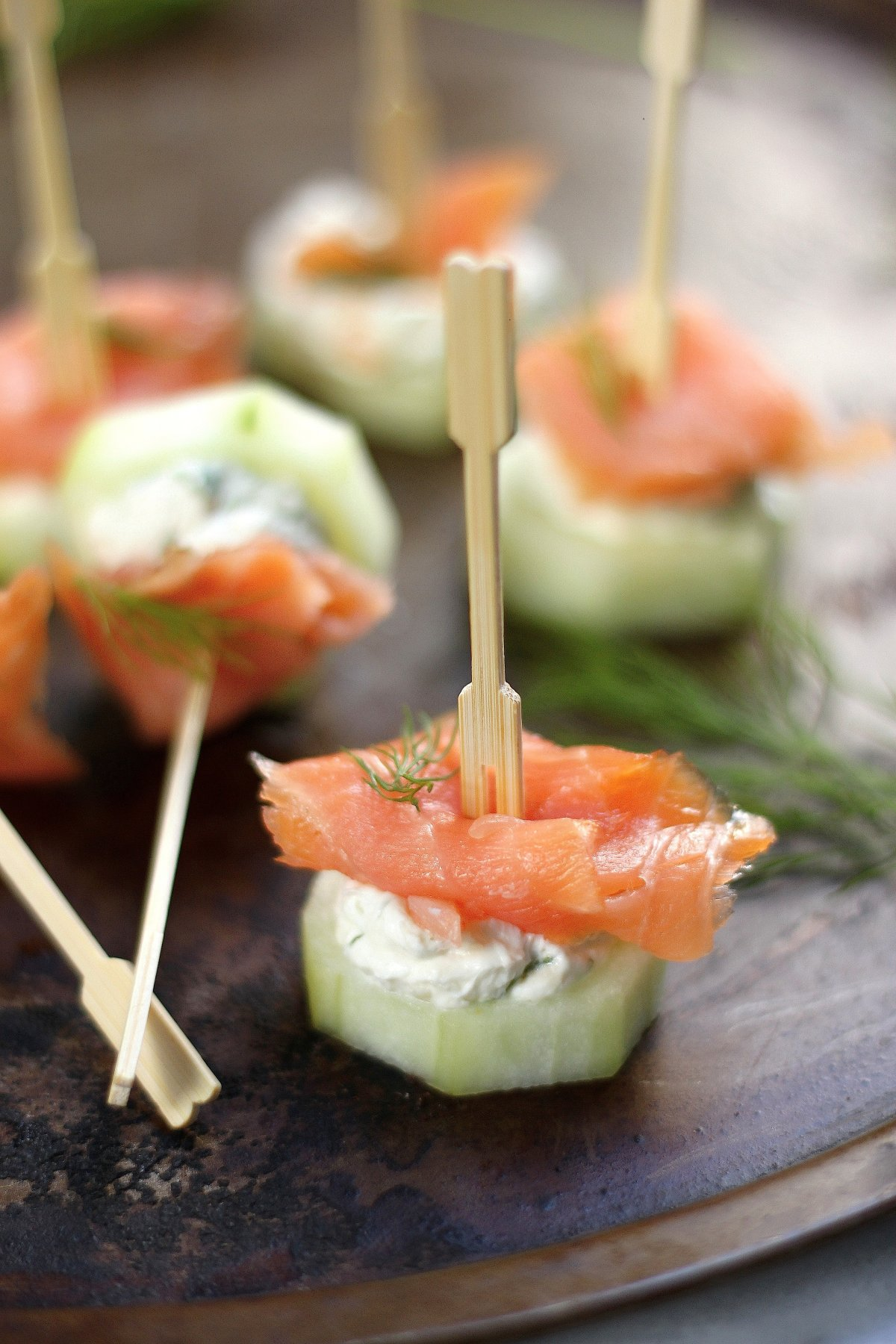 Smoked Salmon and Cream Cheese Cucumber Bites! Perfect for Easter or Mother's Day!