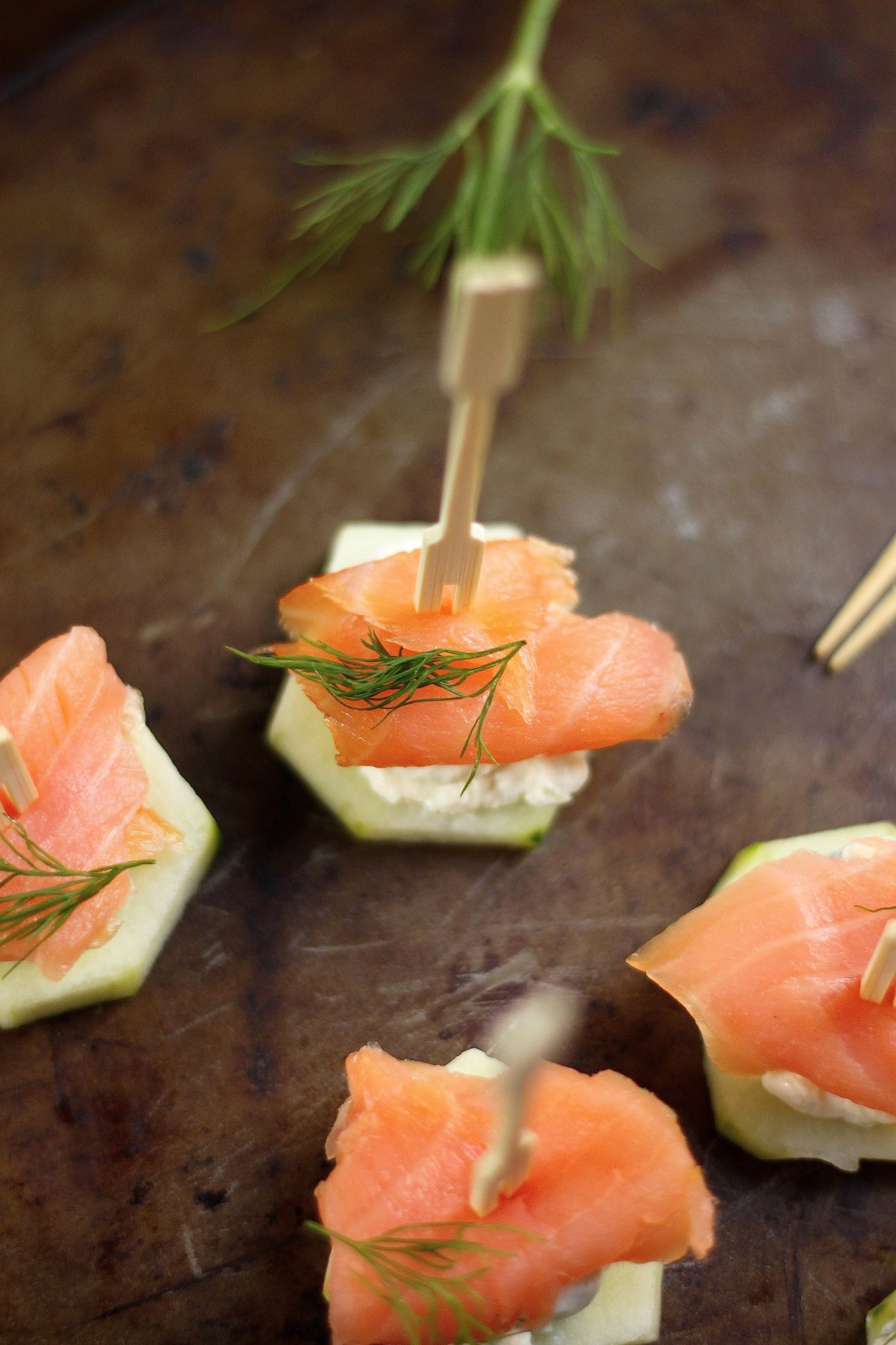 Smoked Salmon and Cream Cheese Cucumber Bites | Baker by Nature