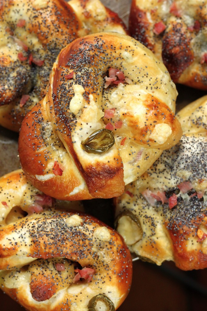 Ham, Swiss, and Jalapeño Stuffed Pretzels