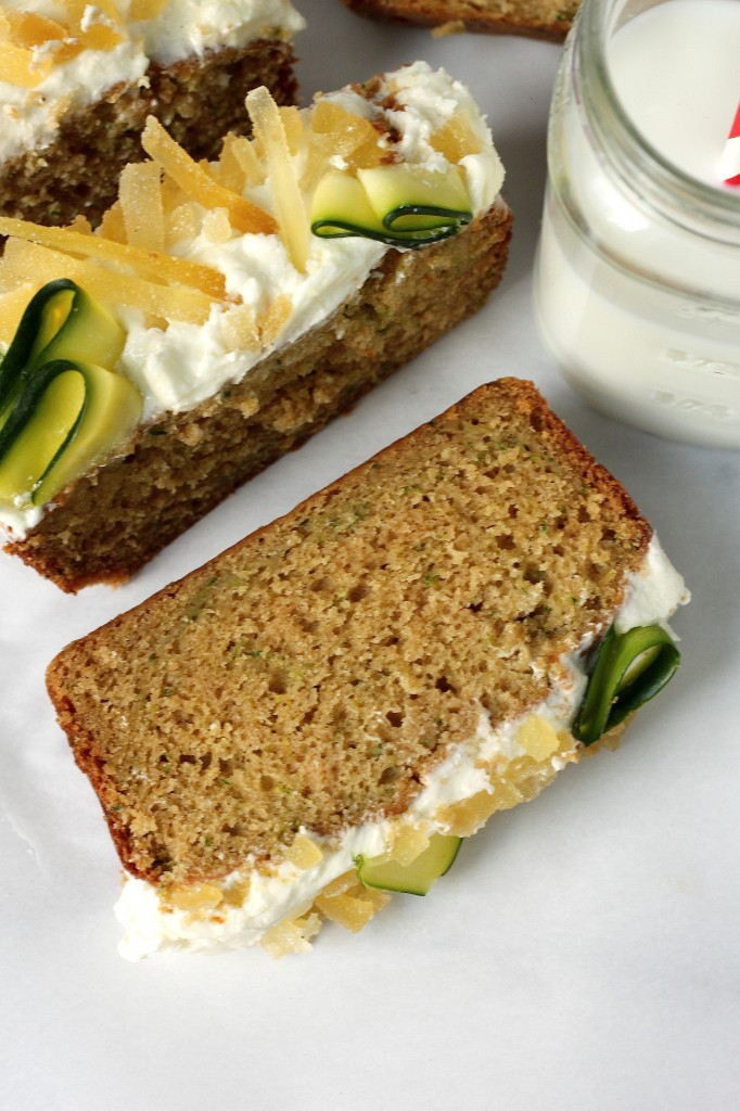 Brown Butter Zucchini Bread with Orange Blossom Ginger Buttercream