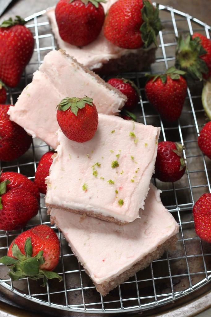 Strawberry Margarita Sheet Cake