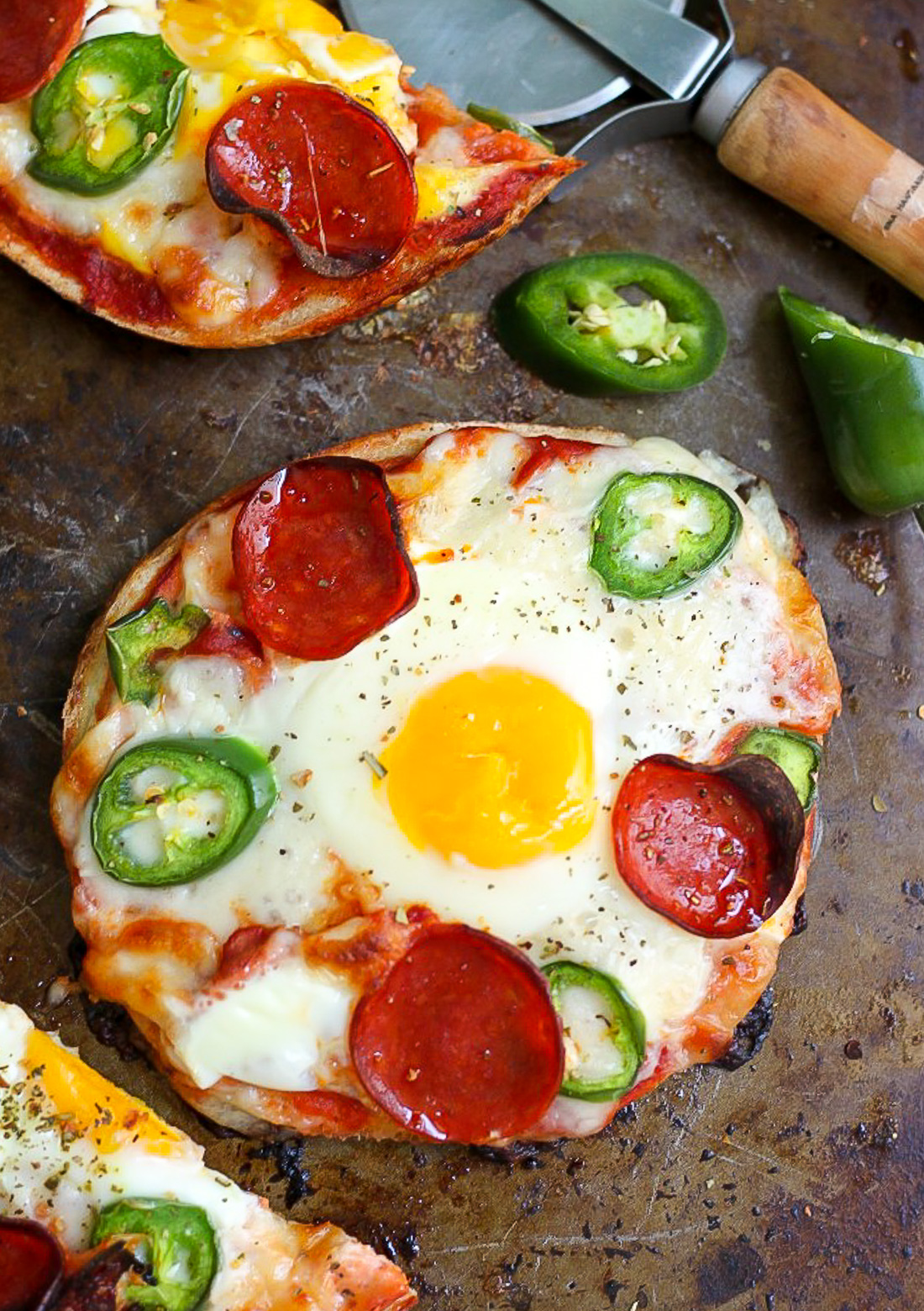 Breakfast Pizza Bagels - Ready FAST and so much better than a bowl of cereal!