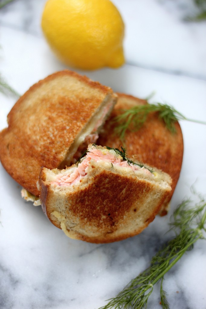 Smoked Salmon & Gruyere Grilled Cheese - Baker by Nature