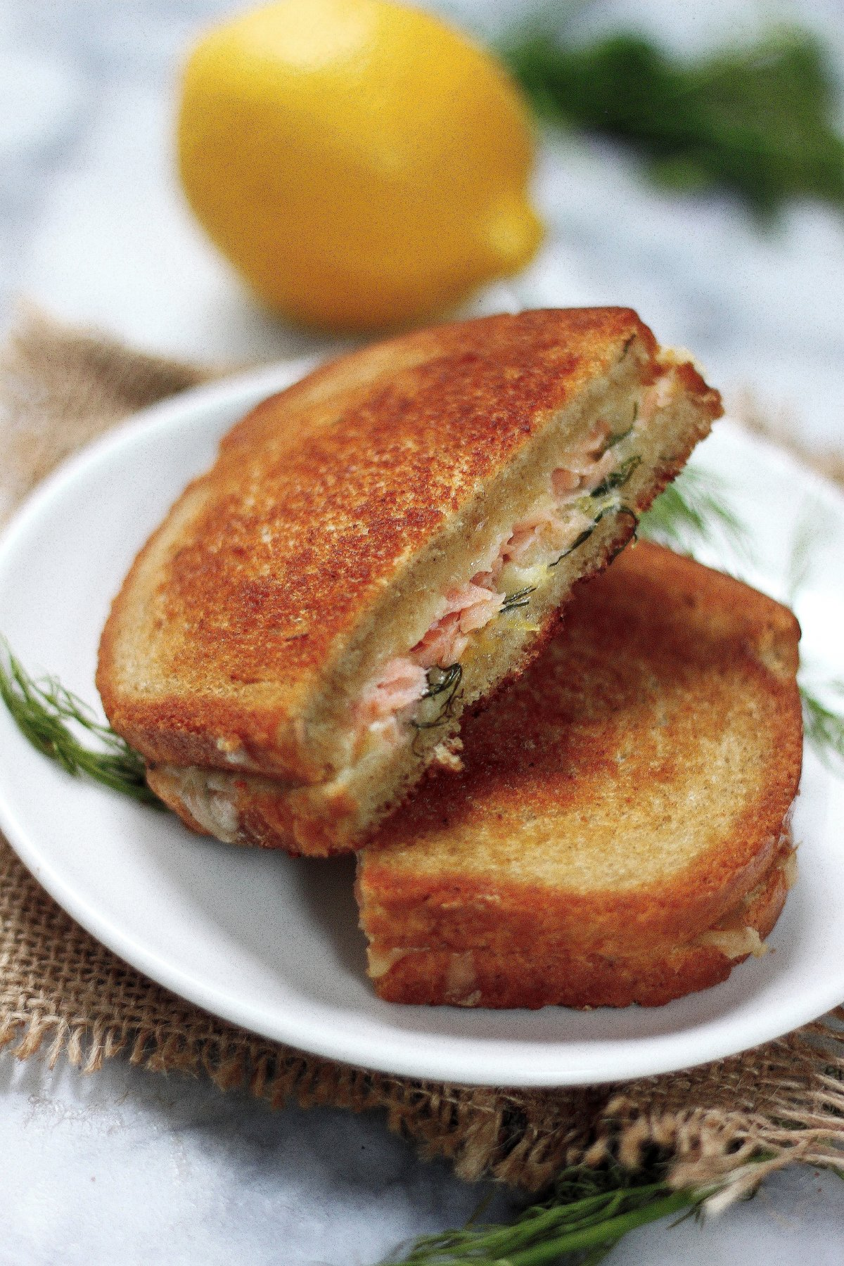 Smoked Salmon And Gruyere Grilled Cheese Sandwich Recipe ...