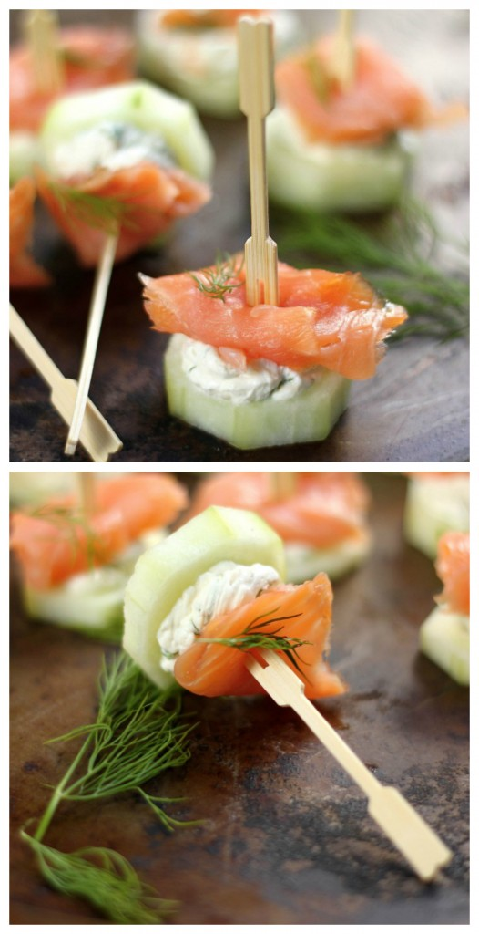 Smoked Salmon and Cream Cheese Cucumber Bites - Baker by ...
