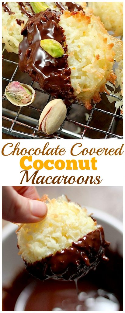 Chocolate Covered Coconut Macaroons