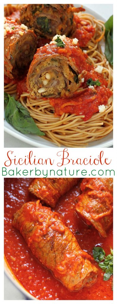 This Sicilian Braciole recipe has been in my family for generations!!! So tender, flavorful, and perfect for Sunday night dinner. If you love Italian food, you have to try this!