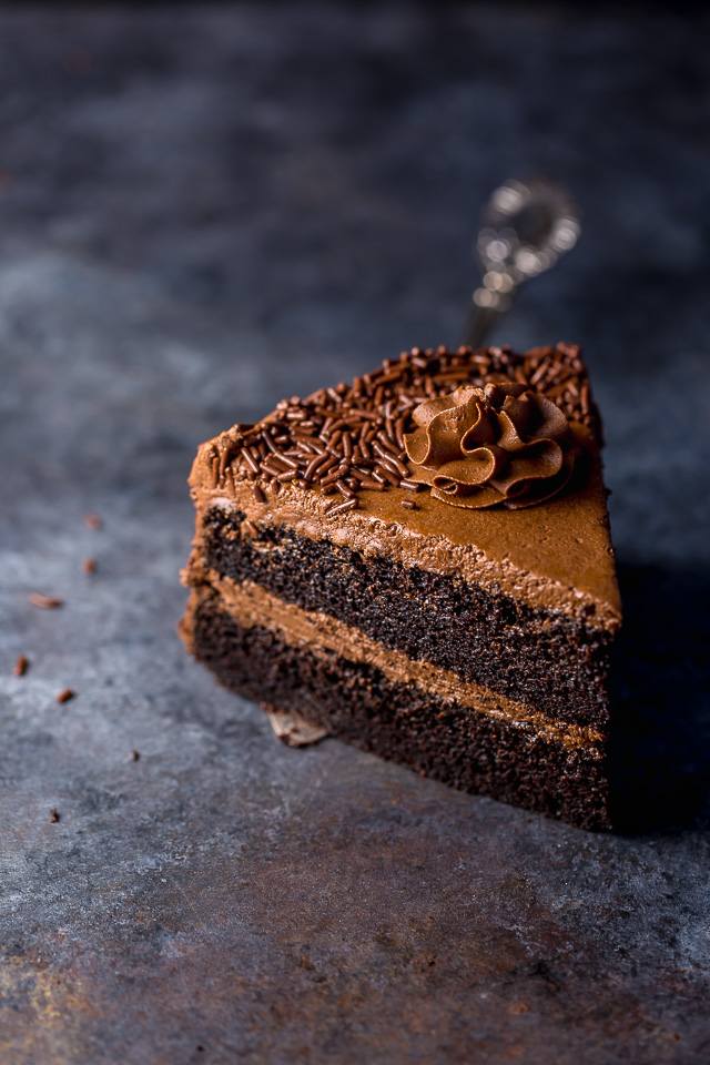 Just one bite of this Super Decadent Chocolate Cake with Chocolate Fudge Frosting will have you head over heels in love! And it couldn't be easier to bake!