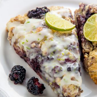 Fresh blackberries and a vibrant pop of lime make these scones irresistible!