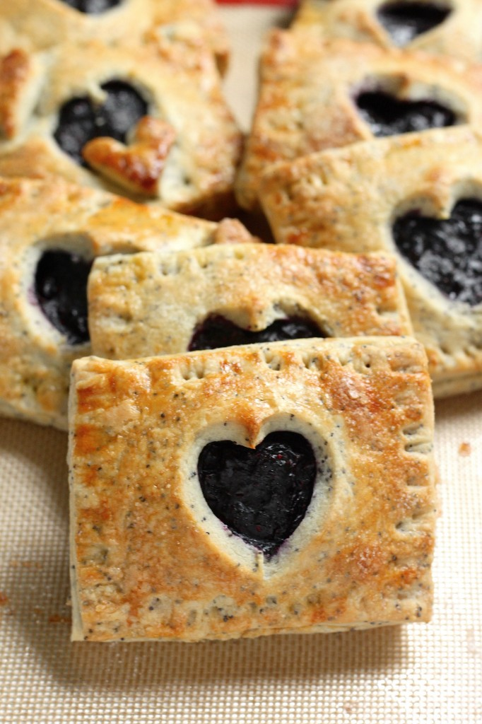 Blueberry Hand pies with Lemon Poppy Seed Crust