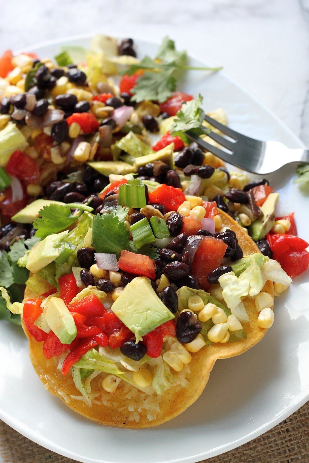 Mexican Chopped Tostada Salad