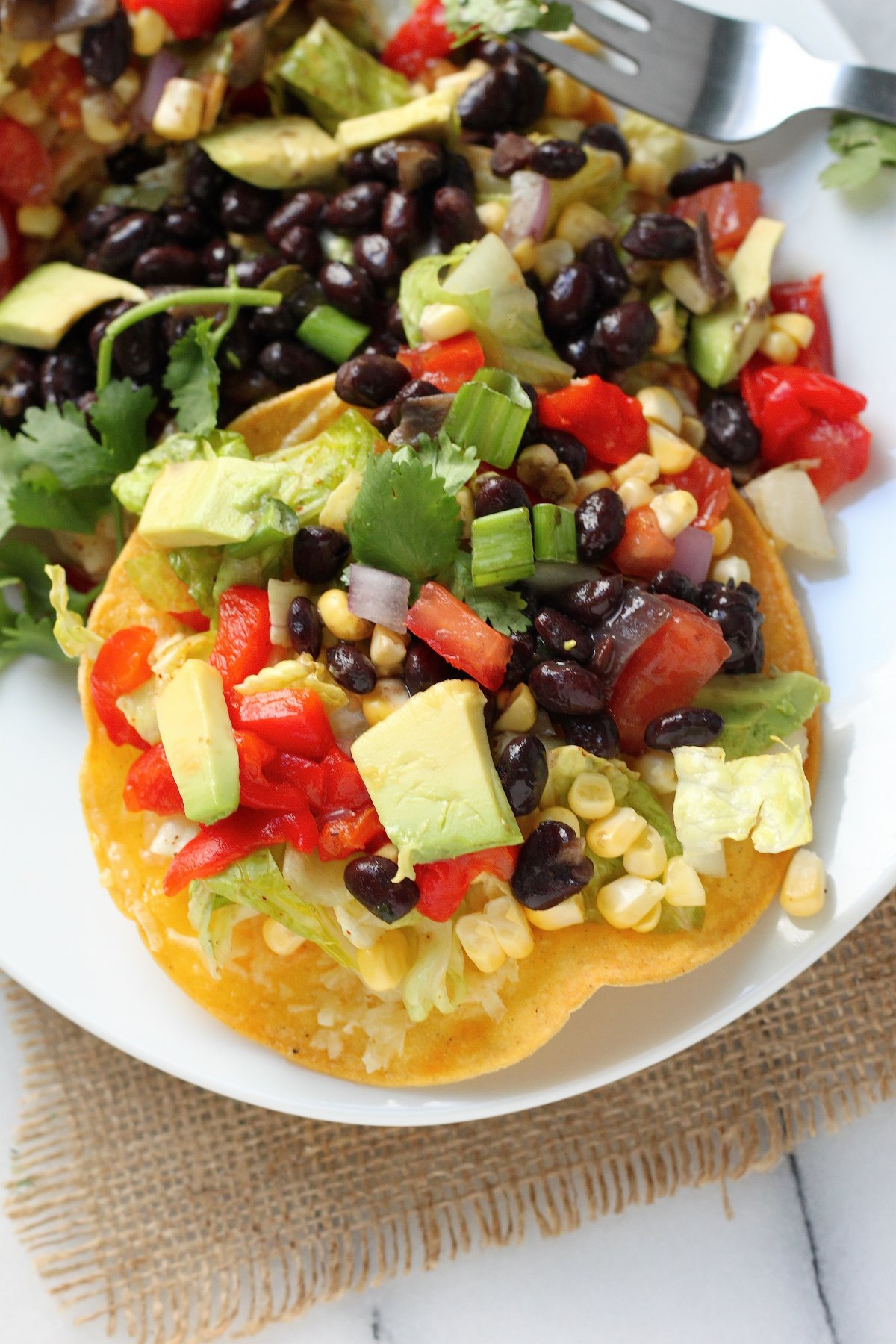 Mexican Chopped Tostada Salad - Baker by Nature