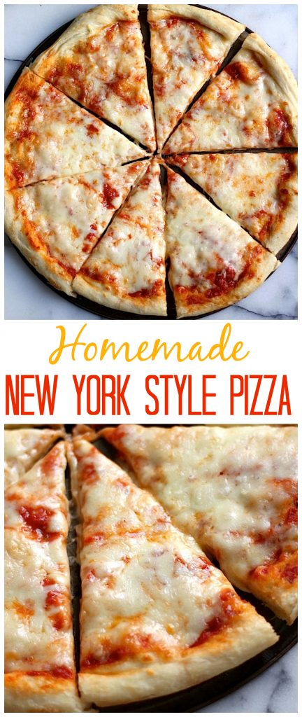 The Best New York Style Cheese Pizza - Baker by Nature