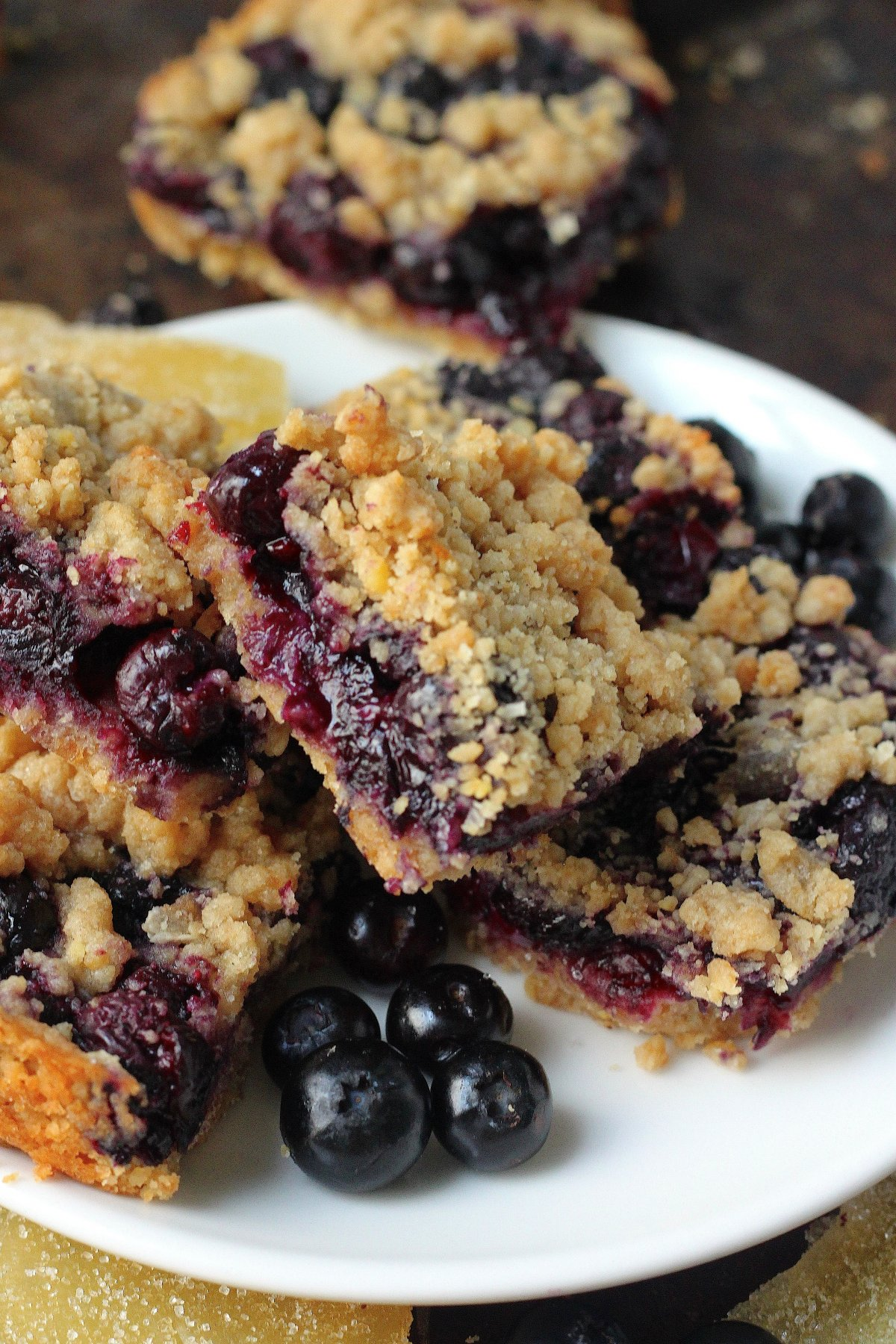 Blueberry Crumb Bars - Baker by Nature