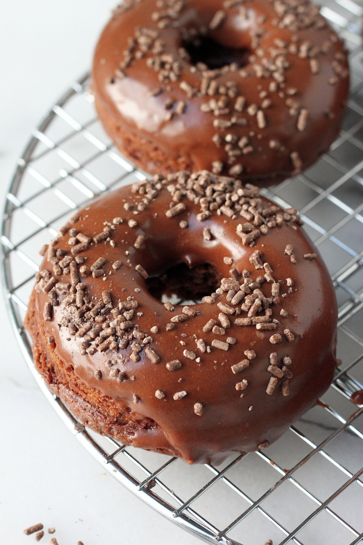 Chocolate Sour Cream Donuts - Baker by Nature