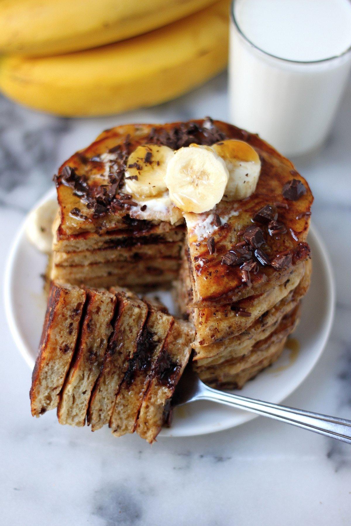 Best Ever Banana Oat Pancakes Baker By Nature