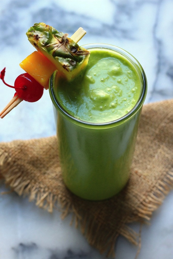 An Actually Delicious Tropical Green Smoothie - Baker by ...