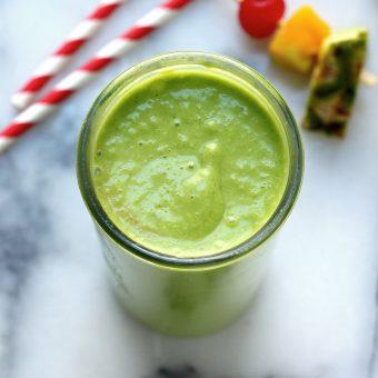 An Actually Delicious Tropical Green Smoothie
