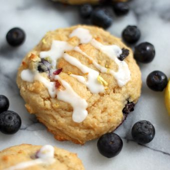 Blueberry Lemon Muffin Top Cookies