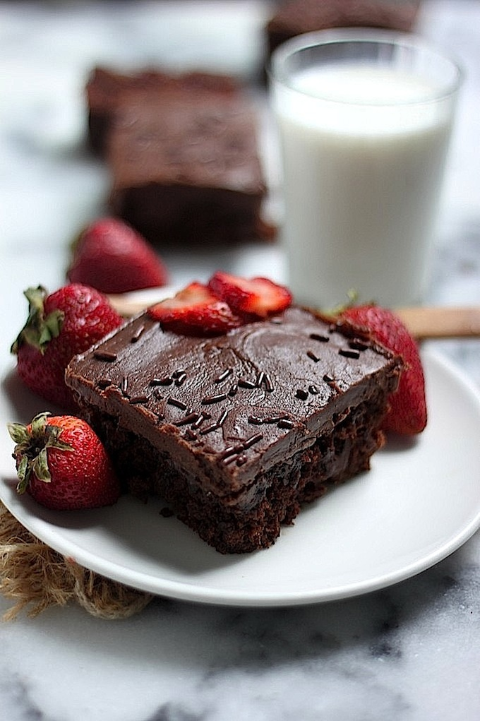 Triple Chocolate Oatmeal Cake