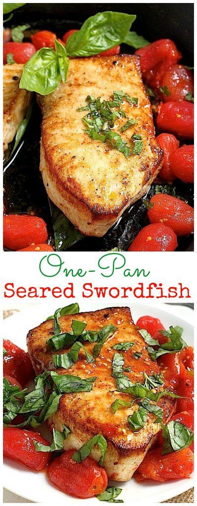 One-Pan Seared Swordfish