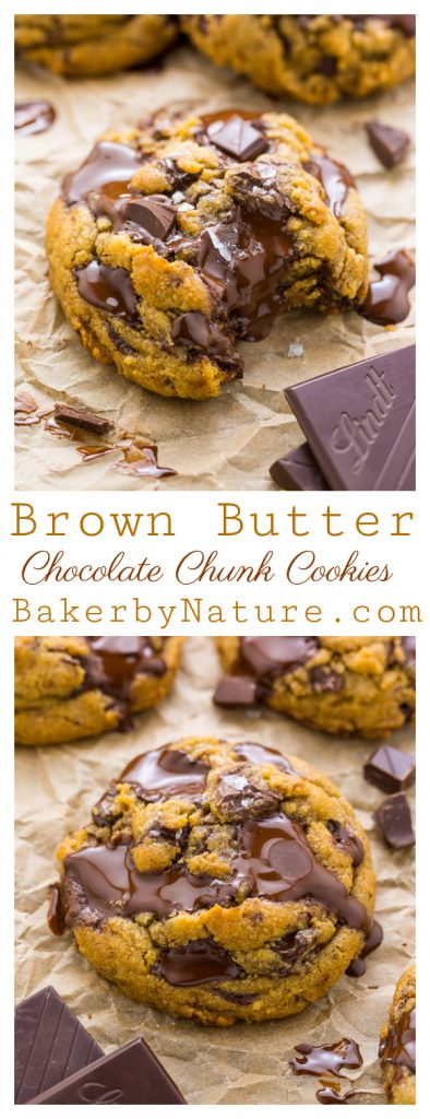 The Best Ever Chocolate Chunk Cookies are made with brown butter, plenty of vanilla, and tons of gooey chocolate! You can chill the dough for up to 2 days, or freeze it! This is a great recipe!