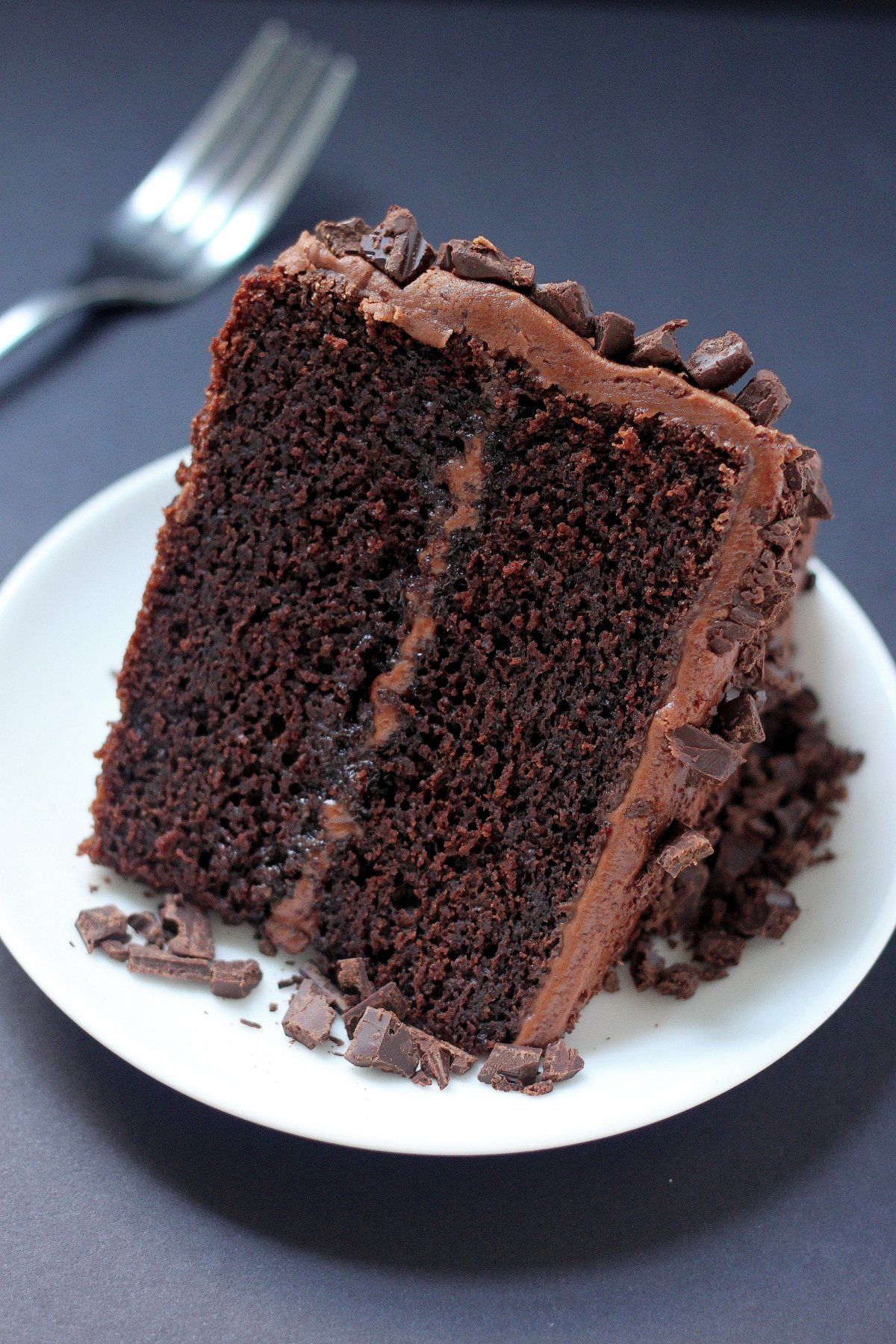 Super Decadent Chocolate Cake with Chocolate Fudge Frosting - Baker by ...