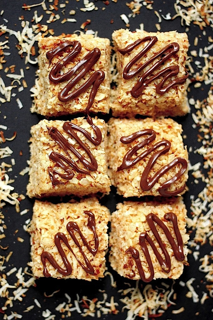 Brown Butter And Toasted Coconut Krispy Treats