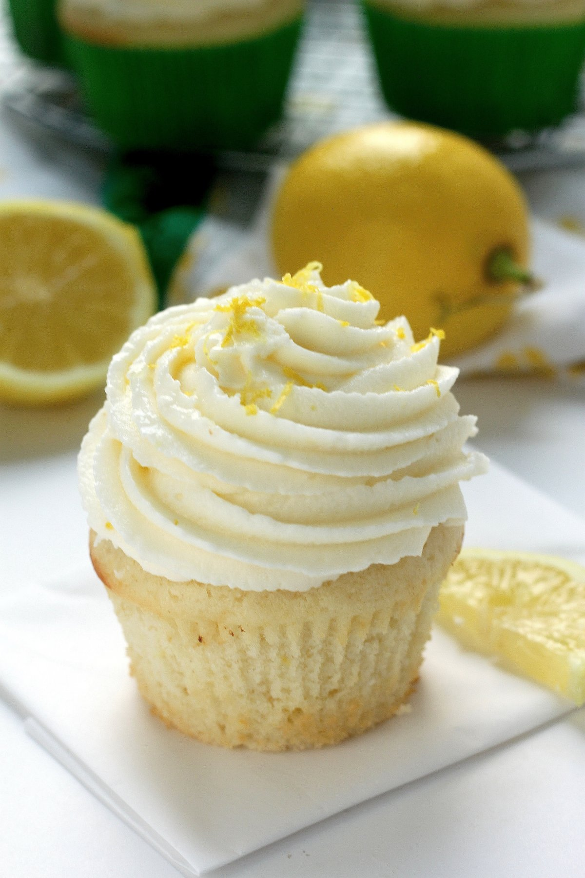 Light and Lovely Lemon Cupcakes - Baker by Nature