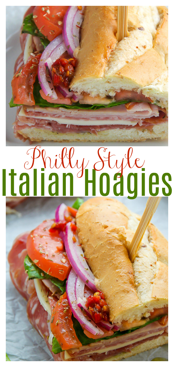 This is the BEST Italian Hoagie recipe around and it's so easy to make! Made with the best hoagie rolls, fresh veggies, cherry pepper hoagie spread, and Italian hoagie meats, this sandwich is exploding with flavor!