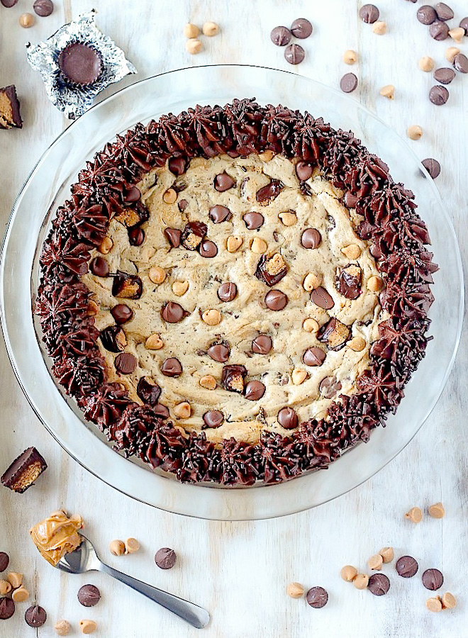 The Ultimate Chocolate Peanut Butter Cookie Cake