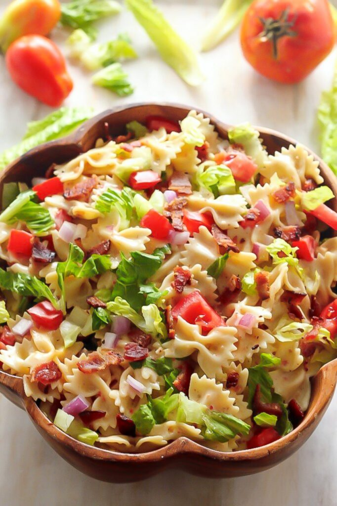 20 minute blt easy pasta salad baker by nature