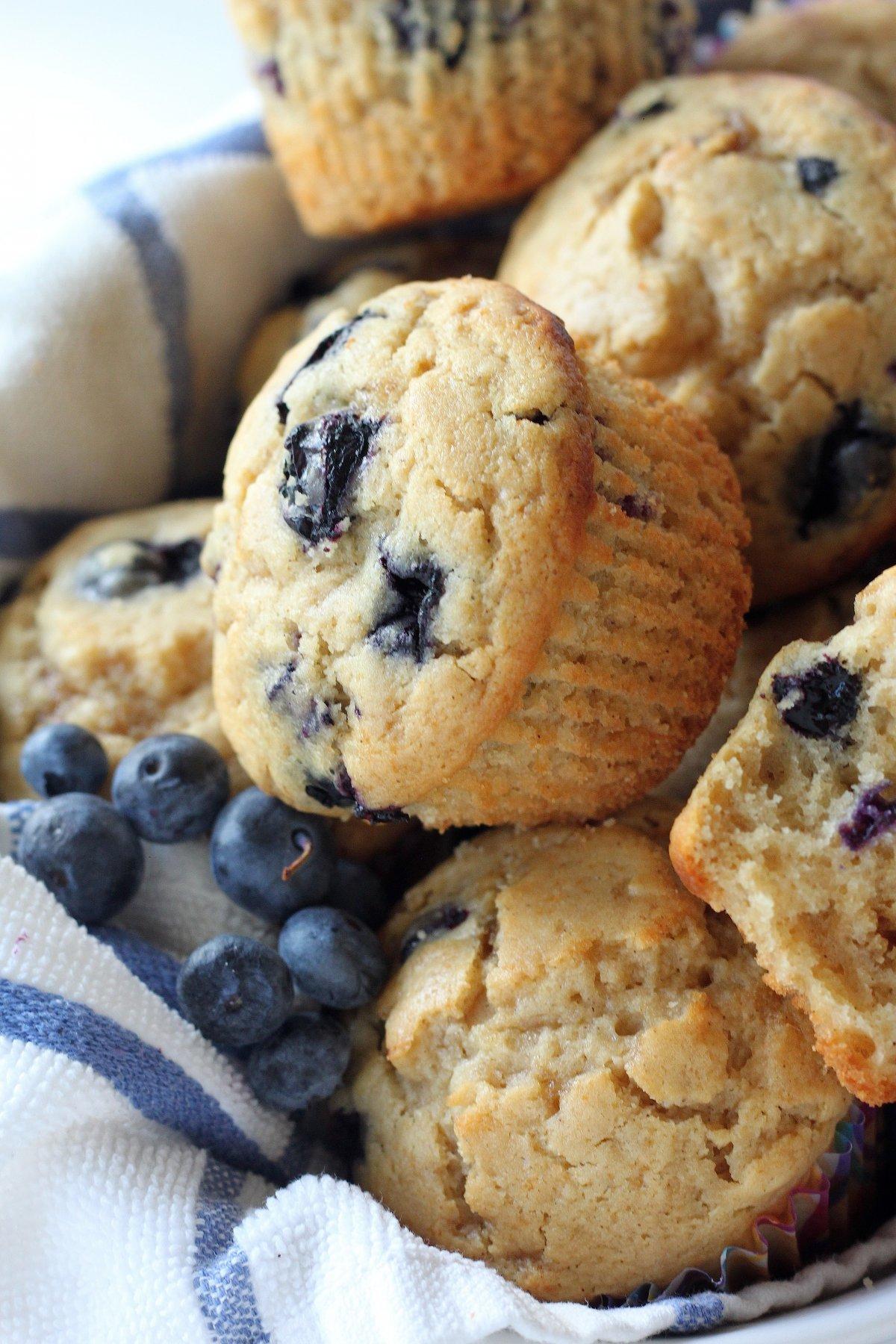 Healthy Greek Yogurt and Honey Blueberry Muffins - Baker ...