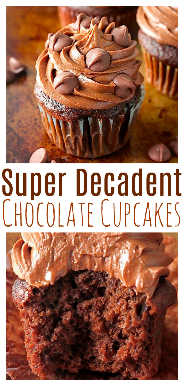 Chocolate Lovers - get excited! These rich, fudgy, super decadent chocolate cupcakes are all for you! So soft, fluffy, and full of chocolate flavor in every bite… they're addicting! And a chocolate lovers dream :)
