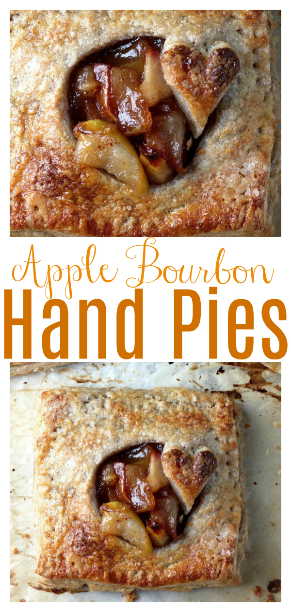 Sweet and juicy homemade cinnamon apple pie filling is spiked with just a touch of bourbon and baked up in flaky whole wheat crust! These sweet little hand pies just ooze Fall spirit! They're sure to be a new favorite!